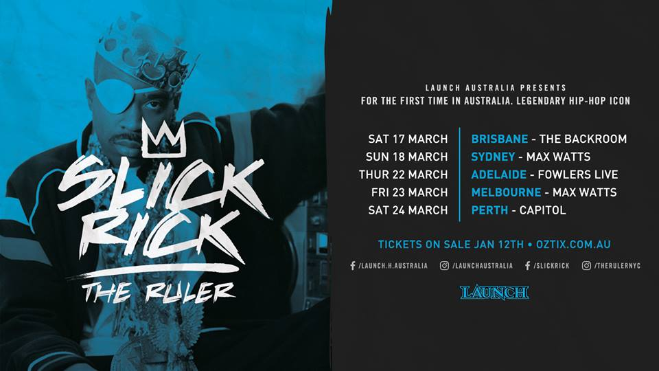 JUST ANNOUNCED: Slick Rick Live InAustralia